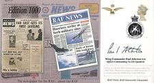 JS(CC)72 1000 Edition of RAF News.double signed Wg Cdr Paul Atherton OC  216 Sgn