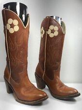 45054d8e1be ~Vintage~ACME Cowboy Boots~Women's Size 6.5~Brown Leather w/Flowers