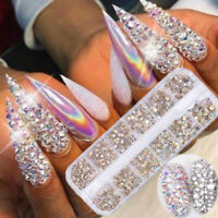 AB Crystal Rhinestone Diamond Gems 3D Glitter Nail Art Decoration Nail Beauty
