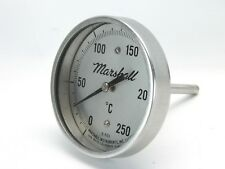 """Marshall Instruments E503 Celcius Thermometer 2-1/2"""" Diameter 1/2"""" Threads (T82)"""