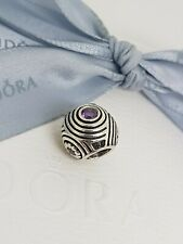 Authentic Pandora Purple CZ Hypnotic Circles Charm 790432ACZ Retired