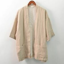 Eileen Fisher Organic Linen Cotton Cardigan Open Front Duster Womens XL