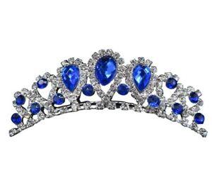 Rhinestone Tiara Crown Princess Princess Girl Children Birthday Wedding Comb Kid