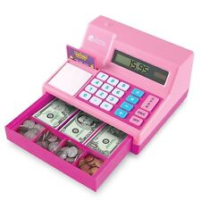 Learning Resources Pretend & Play Money Cash Register Assorted Pink Playset New