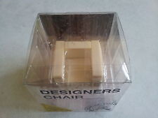 Miniatures Limited White Color Design Interior Collection Mini Chair Set A