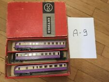 set_A_9: old DDR piko gutzold triebwagen vt 137, 3 cars, boxed