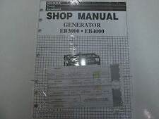 1997 Honda Power Equipment Generator EB3000 EB4000 Shop Manual NEW FACTORY OEM