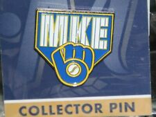 MILWAUKEE BREWERS  HAT PIN BREWERS LOGO GLOVE ON BASE MKE  NEW IN PACKAGE