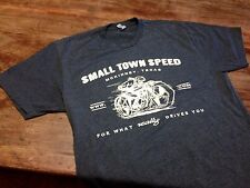 3xl BLACK heathered SMALL TOWN SPEED bonneville MOTORCYCLE SHIRT 3X hot rod