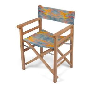 Solstice Designer Director Chair, Handmade to order, Sustainable Eco Wood, Folds