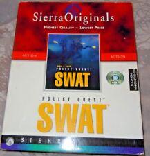 Police Quest SWAT 1 S.W.A.T. 1997 Sierra Originals Gran Caja en muy buena condición
