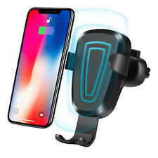 10W Wireless Fast Charger 360° Rotation Car Phone Mount Holder Air Vent Bracket