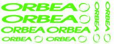 6 pegatinas de vinilo Verde fluorescente Orbea  para bicicleta,  no 596