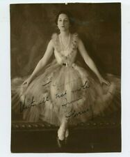 Vintage 6 X 8 Photo Young Beauty in a Fashionable Ball Gown Inscribed & Signed