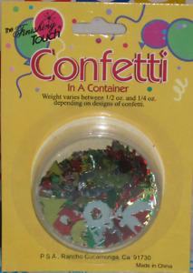 Christmas Holiday Confetti Snow Flakes, Silver Bells, Stars, Hanukkah, Scrapbook