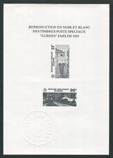 BELGIEN SCHWARZDRUCK EUROPA CEPT 1983 MALEREI EISENBAHN BAHNHOF z1810