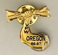 Oregon 1967 Strong Arm USA War Veteran VFW Military Pin Badge Rare Vintage (C24)