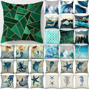 Marine Life Cover Abstract Pillow Case Waist Throw Sofa Cushion Bed Home Decor
