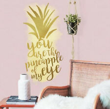 PINEAPPLE OF MY EYE saying wall sticker 1 big decal gold Tropical fruit quote