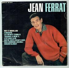 33 Rpm 25cm Jean Ferrat Vinyl Night Fog -A Brassens a Goraguer Barclay 80213