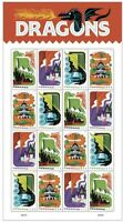 Dragons Sheet of 20 Forever Stamps Scott 5310