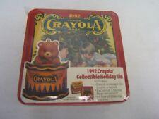 1992 Crayola Collectible Holiday Tin contains  64 Box of Crayola Crayons MIB