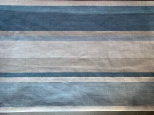 "12x16"" cushion cover in Laura Ashley Awning stripe Seaspray Blue, Austen reverse"