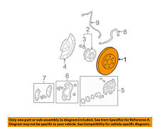 GM OEM Front Brake-Disc Rotor 22955495