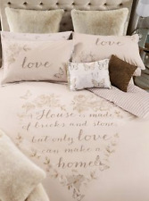 Next Gold Butterfly Heart Single duvet cover +1 Pillowcase with Lace Trim Detail
