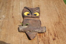 VINTAGE....ESTATE......WOODEN.....OWL.....WALL PLAQUE