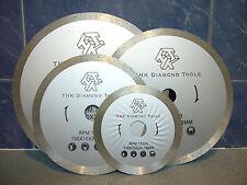 "125mm 5"" inch THK Diamond segment sintered continuous rim TILE SAW BLADE wheel"