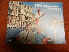 1962 TWA Adventures in Europe BROCHURE 20 page