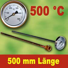 500°C Thermomètre 500 MM Longueur Pour Four en Pierre à Bois E-Ofen à Pizza #