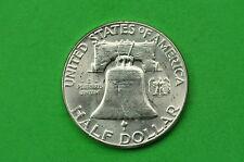 1954-P   BU  Mint State (Franklin) SILVER Half  Dollar (90% SILVER)