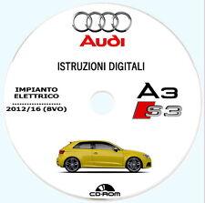Manuale Officina IMPIANTO ELETTRICO,Audi A3 1.2/1.4/1.6/1.8/2.0 (8VO) 2012/2016