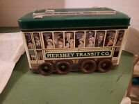 Hershey's Vehicle Series Canister #3 Trolley Tin Train Collectible Advertising