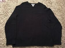 Old Navy Men's Blue 100% Lambswool V-Neck Sweater, Size L