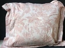 WOW! Vintage *ITALY Pink Damask ROSE *BELLORA Decorative Bed EURO Pillow SHAM
