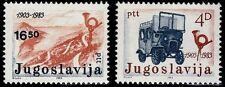SELLOS COCHES  YUGOSLAVIA 1983 1872/73 2v.