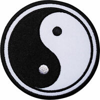 Yin and Yang Embroidered Iron / Sew On Patch Symbol Sign Logo Clothes Bag Badge
