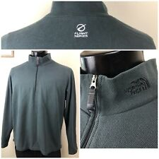 THE NORTH FACE Men's LARGE FLIGHT SERIES Half Zip Active Wear Thermal Charcoal L