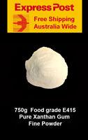750g Food Grade Xanthan gum  Fine Powder - E 415  - Gluten Free