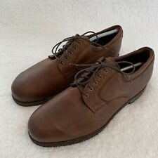 NEIL M Derby BROWN LEATHER MENS OXFORDS SIZE 13 EEE