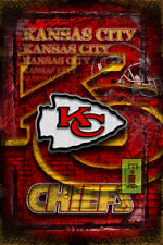 Kansas City Chiefs Tribute 12x18in Poster, Kansas City Chiefs Free Shipping US