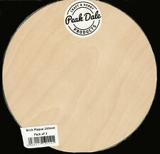 PAINTING PYROGRAPHY 4mm SET OF 3 ROUND BLANK BIRCH PLYWOOD PLAQUES 4 ins DISC