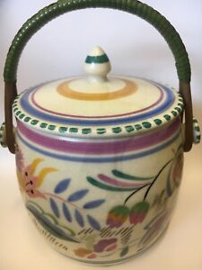 Poole Pottery Traditional Biscuit Barrel Circa 1960