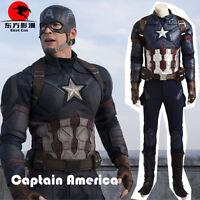 DFYM Captain America 3 Cosplay Steve Rogers Costume Custom Size Full Suit Prop