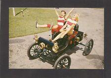 POSTCARD:  2 WILD & CRAZY GIRLS at THE AUTORAMA in HYPOLUXO, FLORIDA - Unused