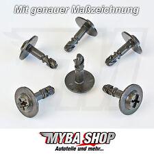 5x Metall Schutz Unterbodenverkleidung Radverkleidung  Schraube für Audi #NEU#