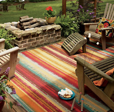 Striped Indoor Outdoor Southwestern Area Rugs Ebay